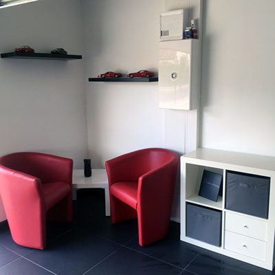 Espace attente de notre atelier Pare Brise Blois