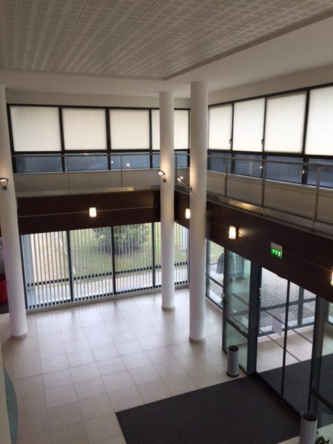 Vitres bureau fumées et teinte de protection solaire bâtiment à Savigny-sur-Braye(41)